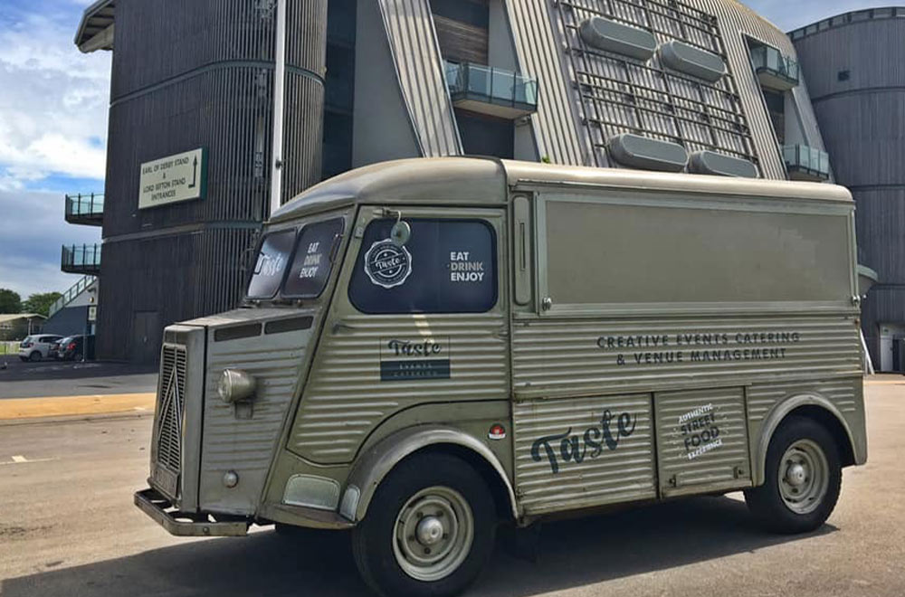 taste hy van conversion outside Aintree racecourse