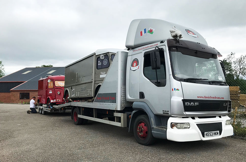 two taste hy van conversions on the transport lorry