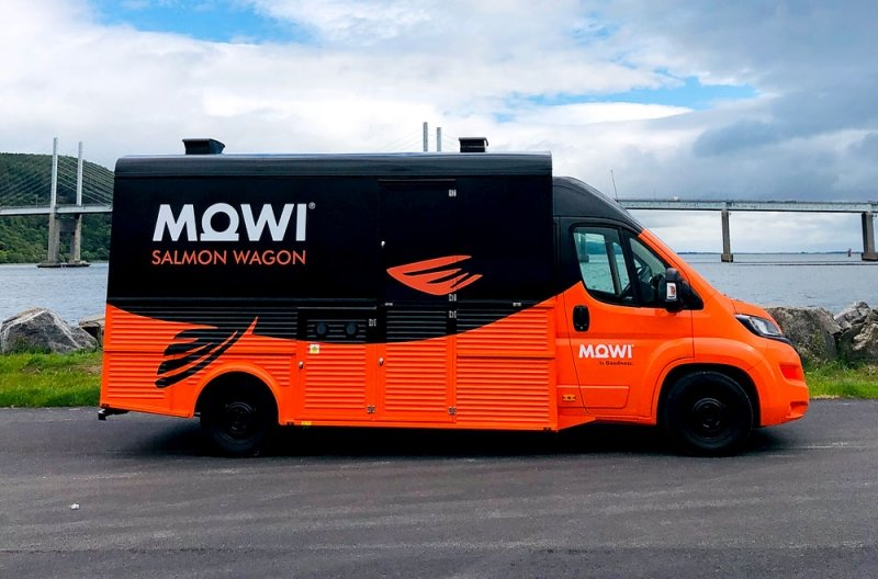 mowi custom van conversion with bridge in the background
