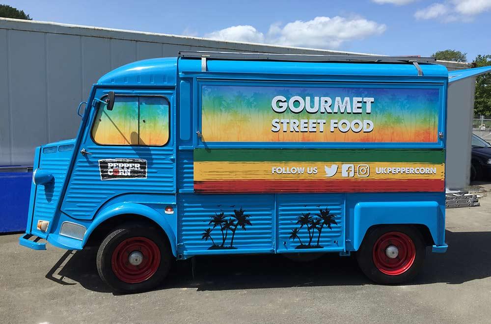 Citroen HY Van conversion into street food catering truck Peppercorn London