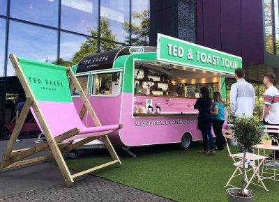 ted baker caravan conversion in situ serving customers