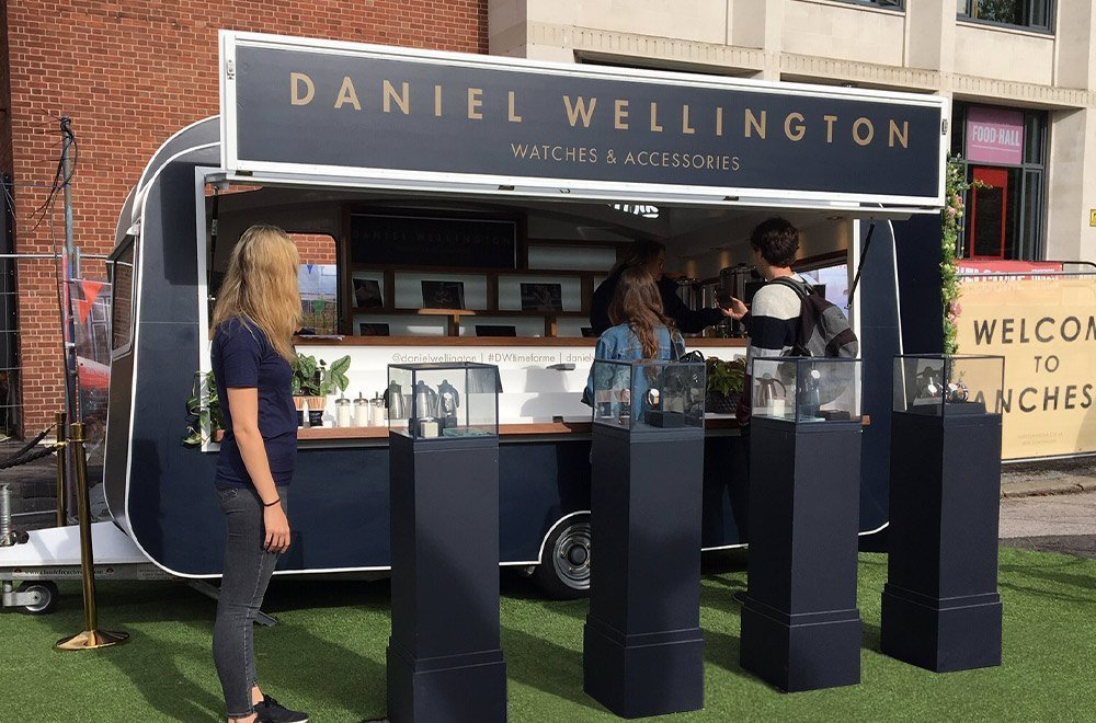 Experiential Marketing Campaign by DW Watches - Vintage style promo caravan branding