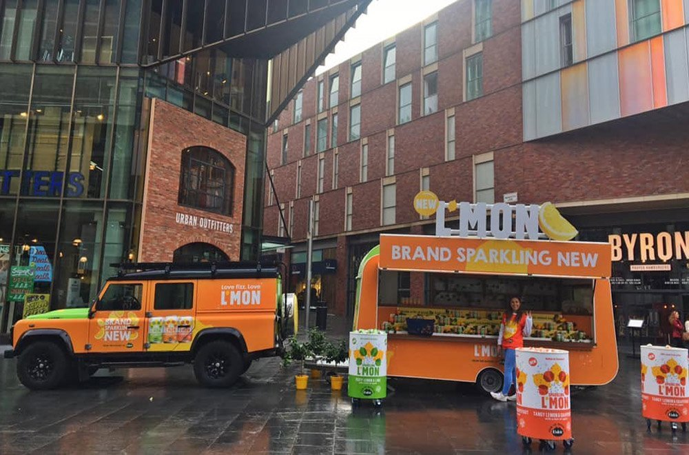 Experiential Marketing Campaign with Promo Vehicle Hire UK Manchester Volvic Lmon
