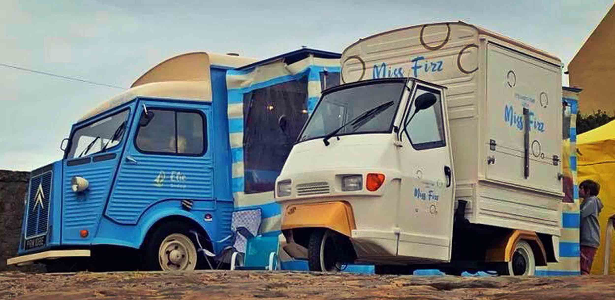 Piaggio Ape Conversions & Tuk Truk Bar Conversions by Classic French Vans