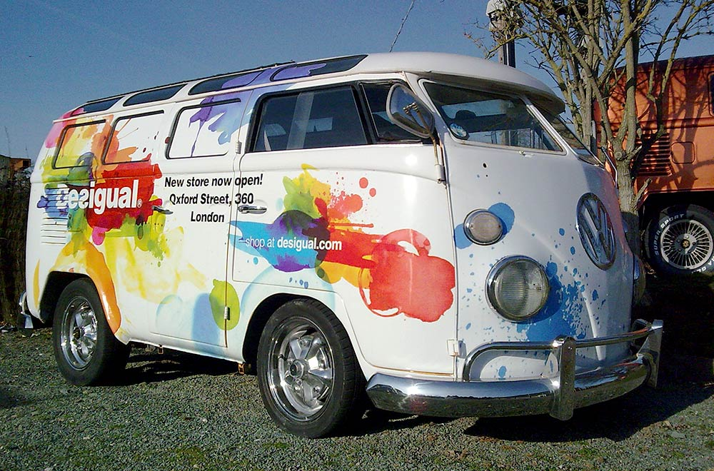 Desigual Branded VW Camper Van for Promotional Sampling Tour