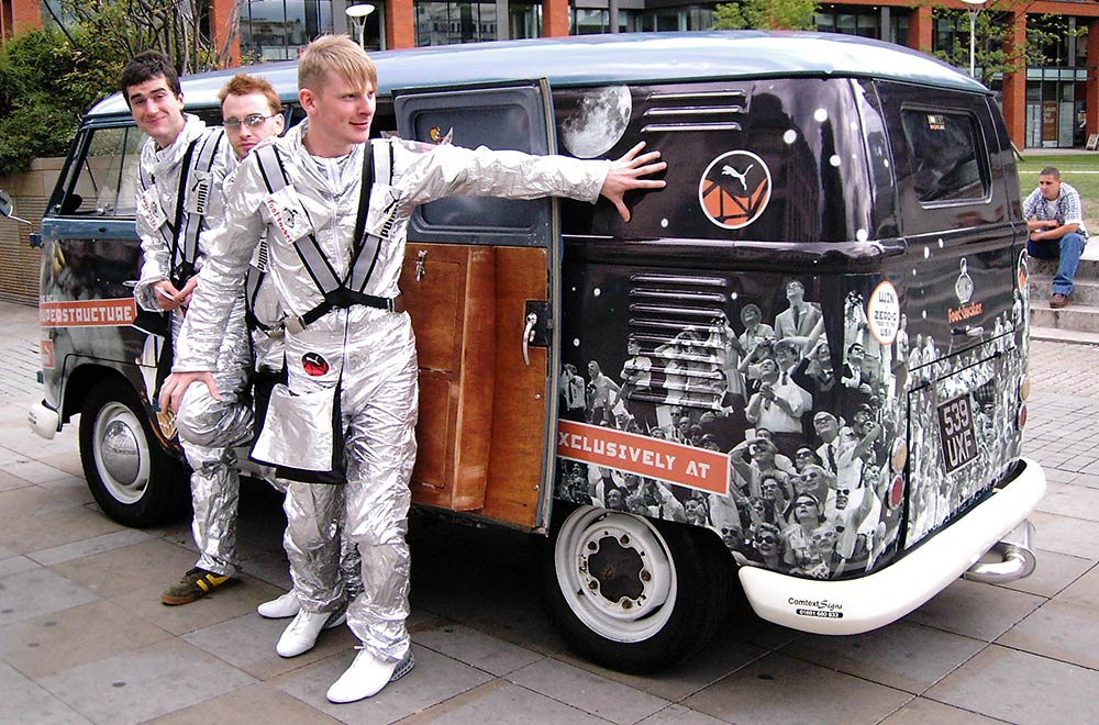 Promotional Vehicle for Marketing Tour - Promo Camper Van for Footlocker