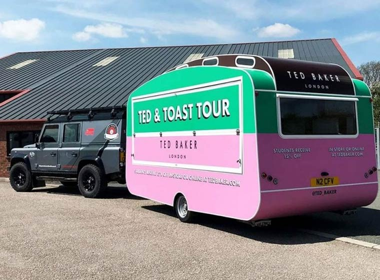 Ted Baker Promotional Caravan Hire for Experiential Marketing Campaign