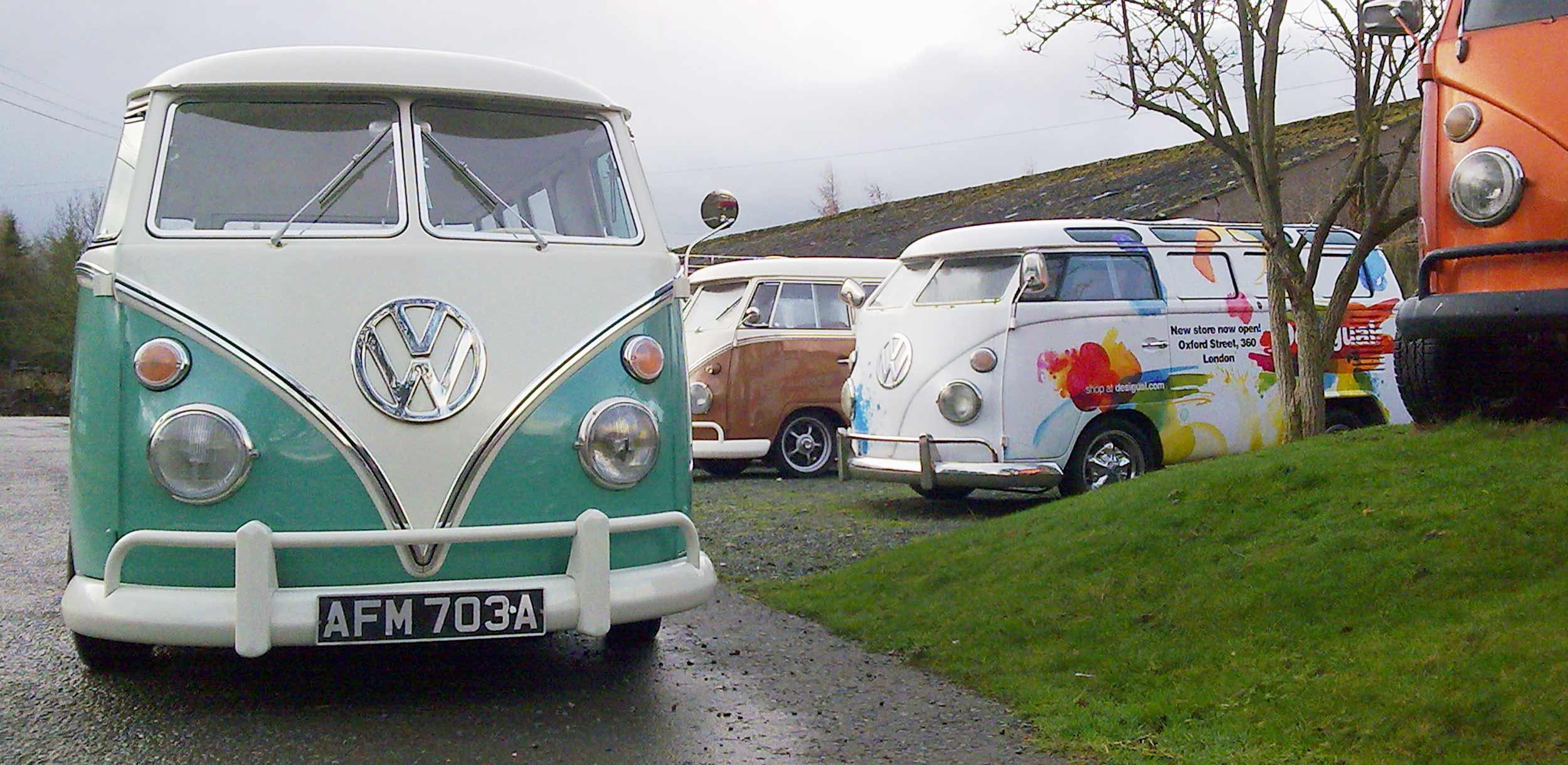 Promotional Marketing Tour Vehicles Branded VW Camper Vans for Hire