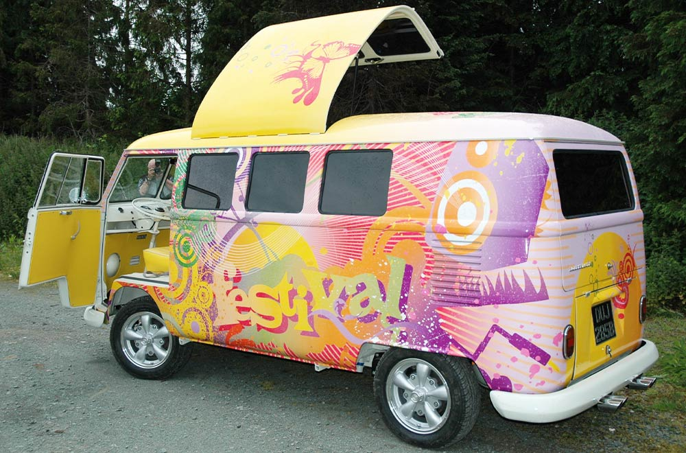 Festival Branded Promo Marketing Vehicle VW Camper Van